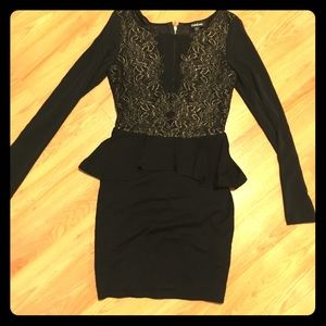 Black Bebe Bodycon Mini Dress